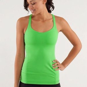 Lululemon Free To Be Tank Frond Green size 10